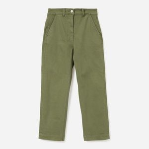 EVERLANE Straight Leg Crop Surplus Green 0 Regular